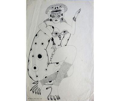 Ricardo Migliorisi, 'Mujer sentada con pies de reptil', 1969