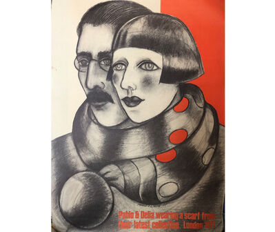 Delia Cancela, 'Afiche de campaña de la marca inglesa Pablo & Delia', 1971