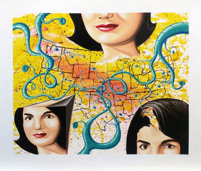 Kenny Scharf, 'THE 3 FACES OF JACKIE THE AMERICAN', 1997