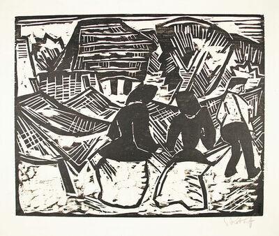 Karl Schmidt-Rottluff, 'Bei den Netzen', 1914