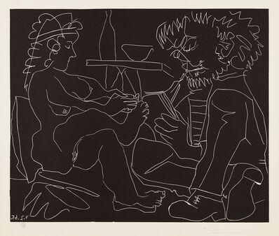 Pablo Picasso, 'Peintre dessinant et modèle nu au chapeau (Painter Drawing a Nude Woman in a Hat)', 1965