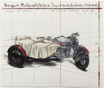Christo and Jeanne-Claude, 'Wrapped Motorcycle, Project for Harley Davidson', 1997