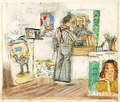 Larry Rivers, 'The Artist in His Studio'