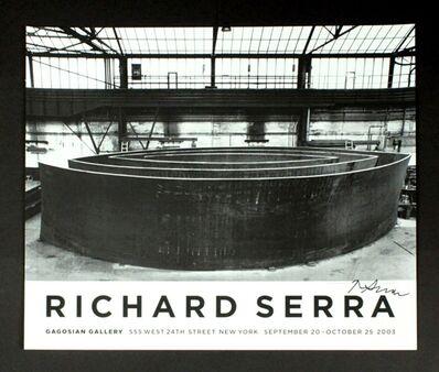 Richard Serra, 'Wake Blindspot Catwalk Vice-Versa', 2003