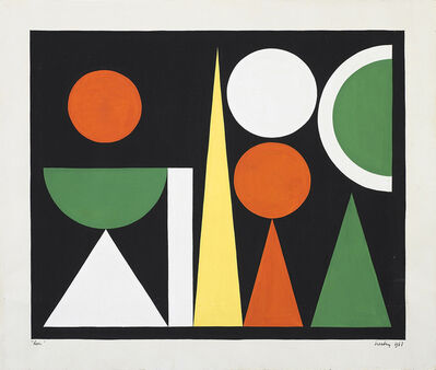 Auguste Herbin, 'Lion', 1947