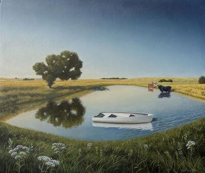 Karl Hartman, 'Boat and Pond', 2020