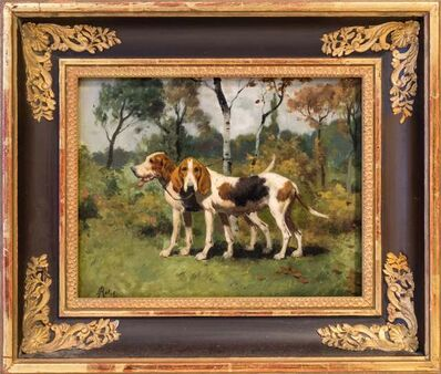 Geroges-Frédéric Rotig, 'Two Hunting Dogs', Late 19th Century-early 20th Century