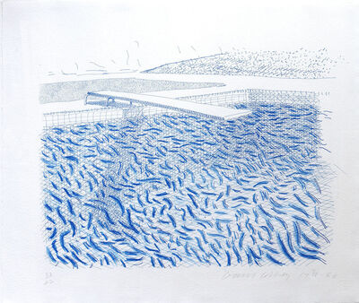 David Hockney, 'Lithographic water made of Lines and Crayon', 1978-1980