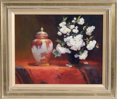 Jacqueline Fowler, ' 'Lidded Satsuma Jar with Blossoms' ', 2014