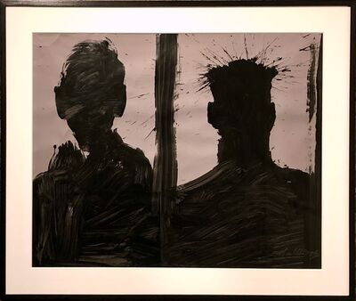 Richard Hambleton, 'Double Shadow Head Portrait (Diptych)', 2006