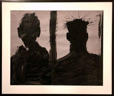 Richard Hambleton, 'Double Shadow Head Portrait (Diptych)', 2006