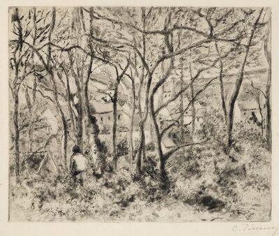 Camille Pissarro, 'Paysage sous bois, a l'Hermitage (Pontoise)', 1879