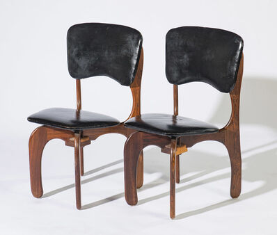 Don Shoemaker, '(2) Sling Rosewood Chairs', 20th Century
