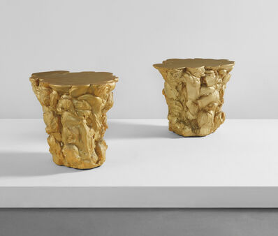 "Fredrikson Stallard, 'Pair of ""Gold Rubber"" side tables', 2007"