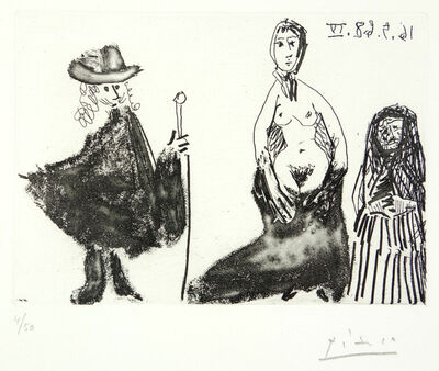 Pablo Picasso, 'Young Girl, Célestine, and Young Man', N/A