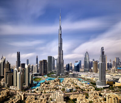 Andrew Prokos, 'Burj Khalifa and Downtown Dubai - Long-Exposure', 2020