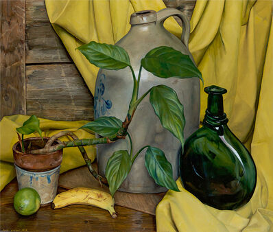 Luigi Lucioni, 'Andante in Yellow and Green', 1975