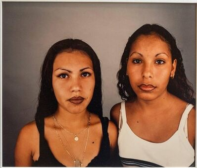 Daniel Joseph Martinez, 'Two Sisters, Photo 1995, rare dye destruction print Photograph', 1990-1999