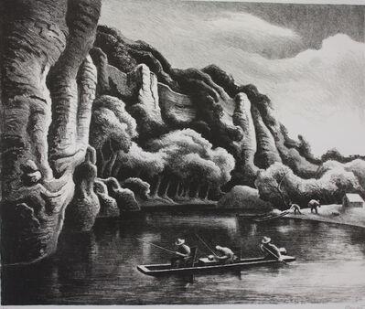 Thomas Hart Benton, 'Making Camp on the Buffalo River', 1972