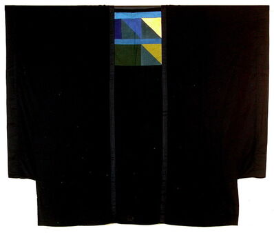Chant Avedissian, 'Gergar cut black cotton with hand-dyed bands', 1988