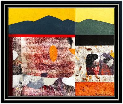 Dan Namingha, 'Dan Namingha Oil Painting On Canvas Original Signed Western Abstract Landscape', 2007