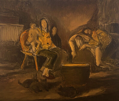 Mark Ryan Chariker, 'Camp with Kittens by a Cauldron', 2020