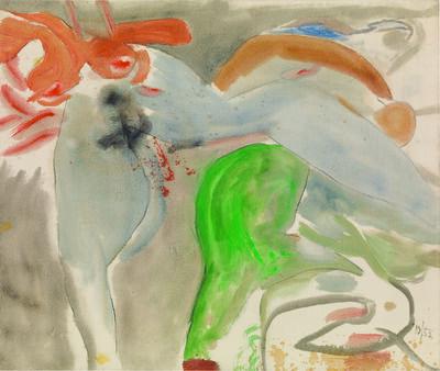 Helen Frankenthaler, 'Scene with Nude', 1952
