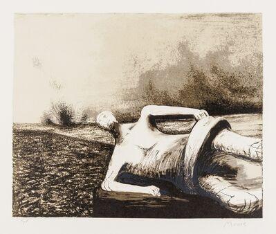 Henry Moore, 'Male Figure in landscape (Cramer 470)', 1979