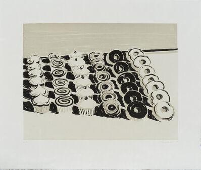 Wayne Thiebaud, 'Dark Cupcakes and Donuts', 2006