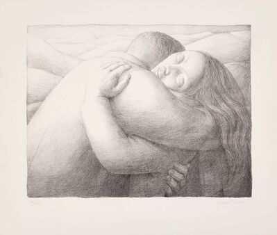 George Tooker, 'Embrace', 1982