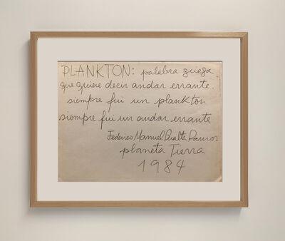 Federico Manuel Peralta Ramos, 'Plankton', 1984