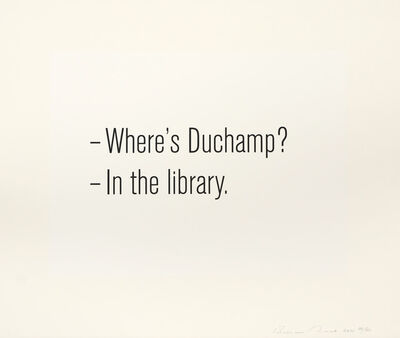 Bethan Huws, 'Where's Duchamp', 2011