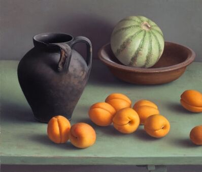 Amy Weiskopf, 'Still Life with Black Vase and Apricots', 2016