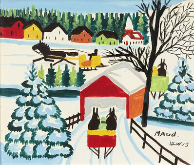 Maud Lewis, 'Covered Bridge', 1967