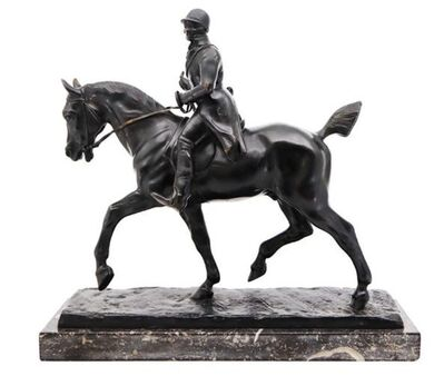 Gaston d'Illiers, 'Equestrian Statue of a Huntsman, Gaston D'Illiers, France', Late 19th Century