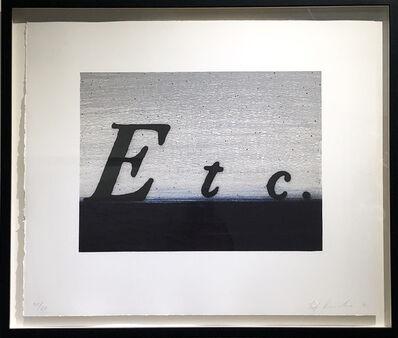 Ed Ruscha, 'ETC.', 1991