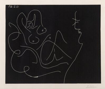 Pablo Picasso, 'Peintre et modéle au fauteuil à bascule (Painter and model on rocking chair)', 1965