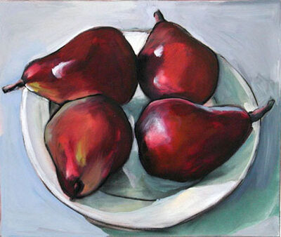 Kay Bradner, 'Four Red Pears'