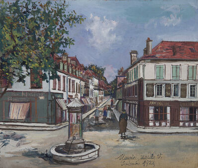 Maurice Utrillo, 'Place de village à Orthez', 1923