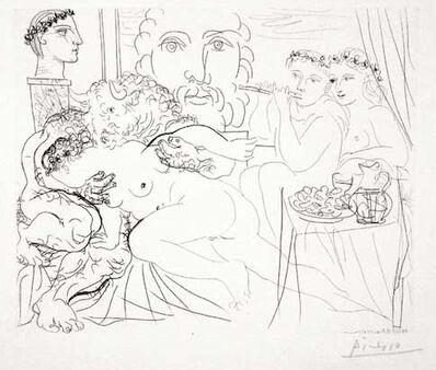 Pablo Picasso, 'Autoportrait Trois Formes : Peintre couronné, Sculpteur en Buste et Minotaure amoureux (S.V. 84)', 1933