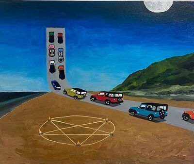 Alexander Paulus, 'The Great Jeep Meetup In The Sky', 2020