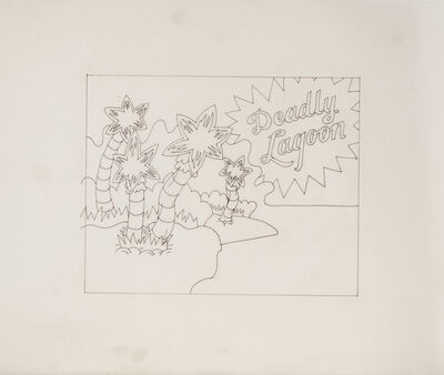 Ed Flood, 'Sketch (Deadly Lagoon)', 1969
