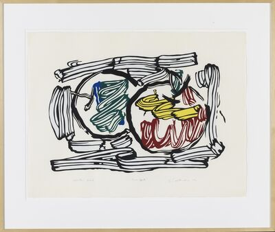 Roy Lichtenstein, 'Two Apples unique exhibition proof', 1982
