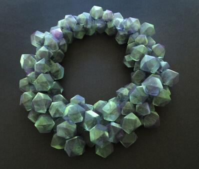 Mariko Kusumoto, 'Green cubes necklace', 2020