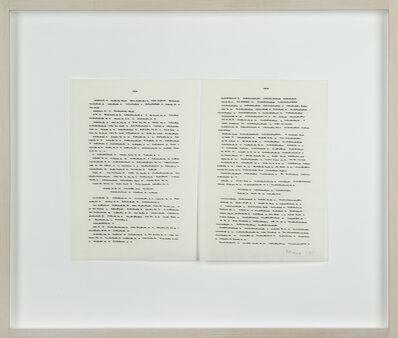 Irma Blank, 'Trascrizioni', 1975