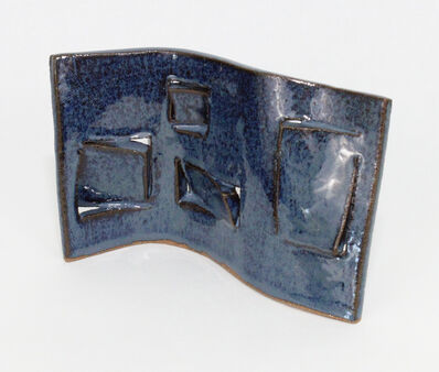 Tracey Meyer, 'Shapes Us - 32, rich dark blue colour ceramic with lovely smooth surface, textural apertures and unique curve', 2020
