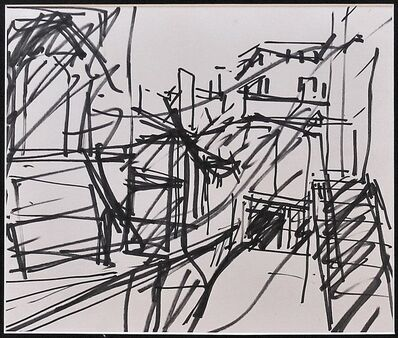 "Frank Auerbach, 'Study for ""To the studios"" STOLEN PLEASE CONTACT', 1977"