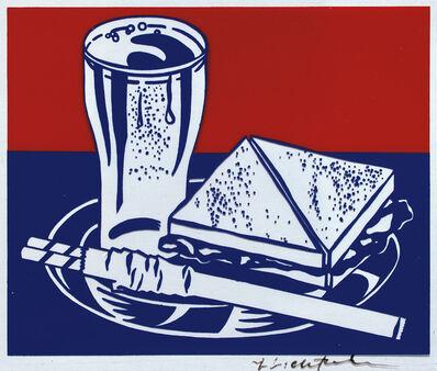 Roy Lichtenstein, 'Sandwich and Soda, for Ten Works by Ten Painters portfolio', 1964