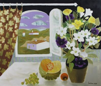 Mary Fedden, 'Still Life with Flowers and Fruit by an Open Window', 1995