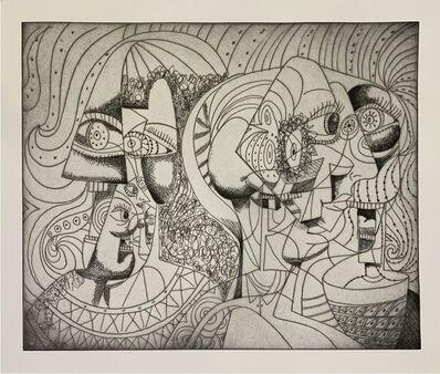 George Condo, 'Renaissance Figures (II)', 2020
